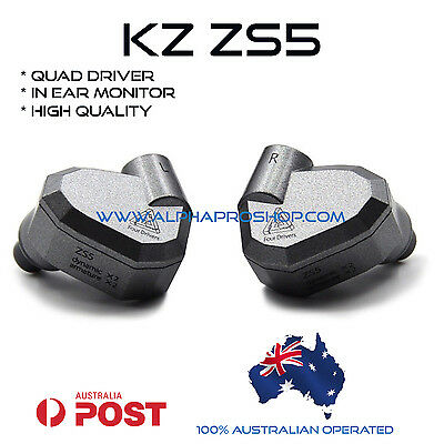 KZ ZS5 IN EAR MONITOR QUAD DRIVER AU SELLER AU WARRANTY Extra Special Packaging