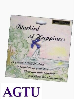 Bluebird of Happiness Lapel Pin Brighten Up Your Day and Chase the Blues away