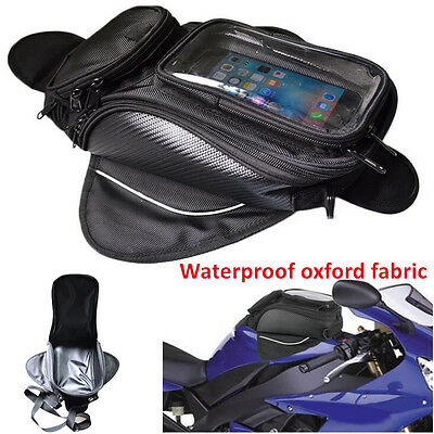 2017Waterproof Magnetic Motorcycle Motorbike Oil Fuel Tank Luggage Bag Universal