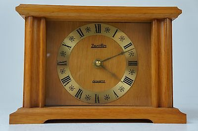 Zentra Quartz Standuhr Kaminuhr Holz Made in Germany Clock Vintage Batteriewerk