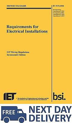 IET Wiring Regulations BS7671 9781849197694 (Big Yellow book) Electrical Regs