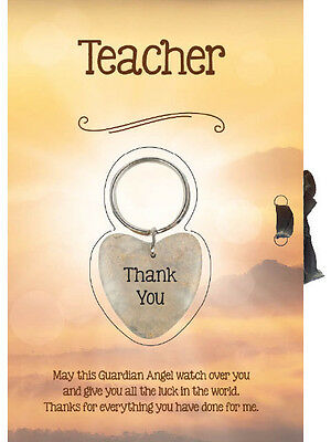 YOU PICK Lucky Heart Keyring and Gift Card Teacher With Thank You Keychain
