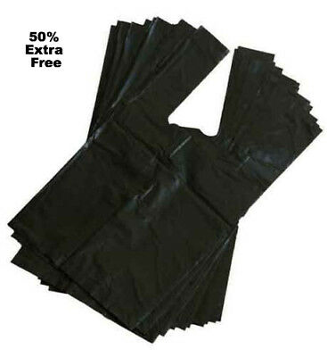 50% EXTRA FREE - Value Fragranced Scented Black Doggy Poo Bags - Poop Handles
