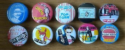 Sex Pistols set of 10x 25mm button badges  God Save The Queen swindle lucre sid