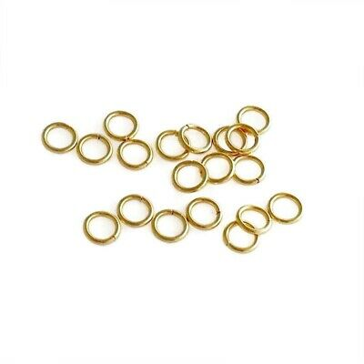 100 x Gold Tone Stainless Steel 5mm x 0.8mm Jump Rings