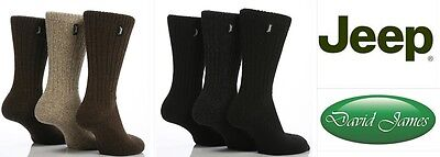 4eb42e70ef5 3 Pairs Mens Mix Designer Jeep Wool Mix Hike Walking 6-11 Uk 39-