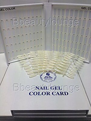 120 White Nail Tip Colour Chart Display Book With 120 Tips For Uv/led Gel Polish