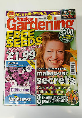Amateur Gardening Magazine Aug 2015 with Free Dianthus Seeds