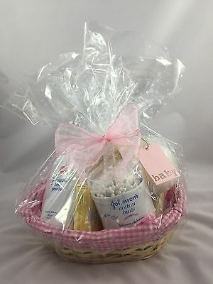 Baby Bathtime Hamper Basket Christening/Baby Shower New Baby Gift FREE P+P Girl