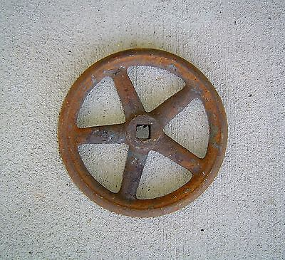 Vintage Ship's Watertight Hatch Door Iron Wheel - Antique Nautical Decor