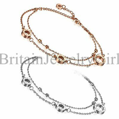 Love Charms Double Stranded Anklet Ankle Bracelet Barefoot Sandal Beach Jewelry