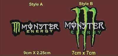 Monster Energy Styled Patch choice of 2 designs Biker Triker