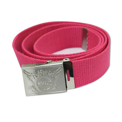 Daily Sports Webbing Belt with Adjustable Fit in Rouge Pink