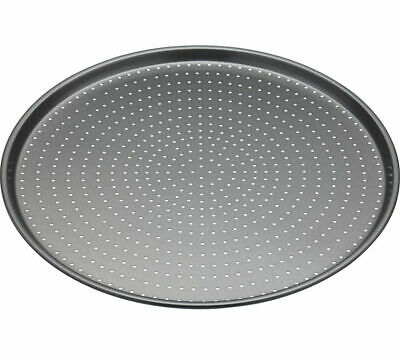 MASTER CLASS Crusty Bake Non-stick Pizza Tray - Stainless Steel - Currys