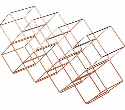 BAR CRAFT Stackable Wine Rack - Copper Finish