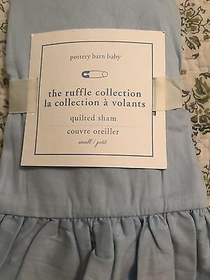 Pottery Barn Baby Linens  Blue Ruffle Collection Sham 12 X 16