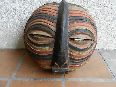 Antique African Songye Tribe Male Kifnebe Mask, From Estate