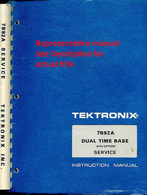 Original Tektronix Instruction (older) Manual for the 502A Oscilloscope