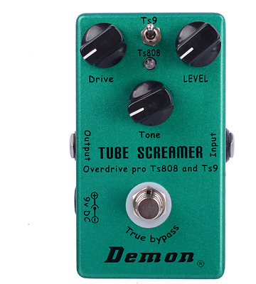 Demon Tube Screamer Overdrive Pro Ts808 Ts9 Electric Guitar Effects Pedal