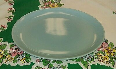 "Vintage Russel Wright Iroquois Casual Ice Blue 12 3/4"" Oval Serving Platter"
