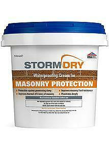5 litre STORMDRY MASONRY PROTECTION CREAM with free ROLLER, BRUSH & GLOVES