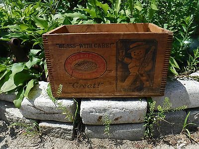 Antique Beechnut Ginger Ale Advertising wooden case/crate Canajoharie NY