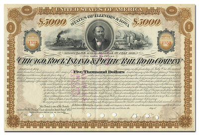 Chicago, Rock Island and Pacific Rail Road Company Bond Certificate