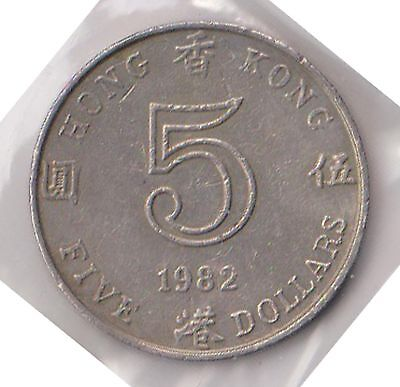 (H62-17) 1982 Hong Kong $5coin (C)