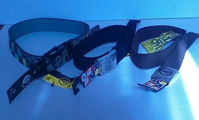 3 NEW W/ Tags Boys Volcom Belts, Print Synthetic Sz 26 & 2 solid one sz fits all