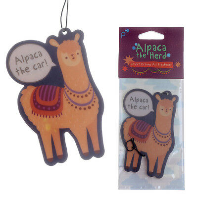 Orange Scented Alpaca Car Air Freshener for home van Novelty Hanging Freshner