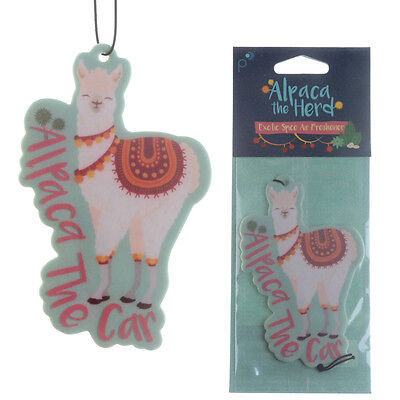 Alpaca Car Air Freshener gift for home van cute Spice scented novelty freshner