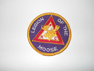 Vintage Legion Of The Moose Hfc Official Sew On Cloth Jacket Patch 3 Inch Dia.