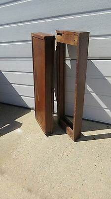 Antique  Oak Macey bookcase  sections Top and Base Mission style
