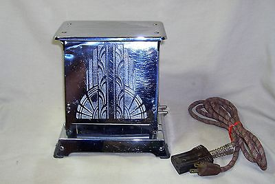 Antique 1930s Westinghouse Art Deco Turnover Toaster Stainless Works 5483