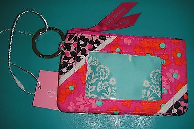 "Vera Bradley  Zip Id Case ""modern Medley"" New  Pattern!  New With Tags!"
