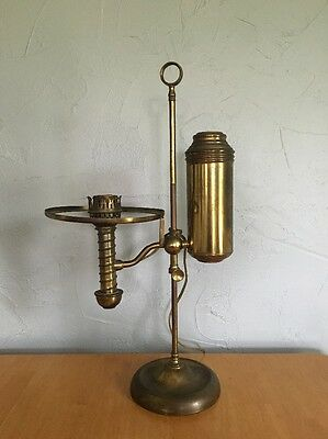 "Antique Oil Lamp Electrified MANHATTAN BRASS CO. N.Y.  24"" Tall 1879 Vintage"