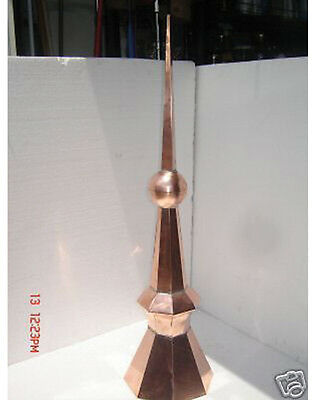 Octagon Base  Copper  Finial,home Roof Decor