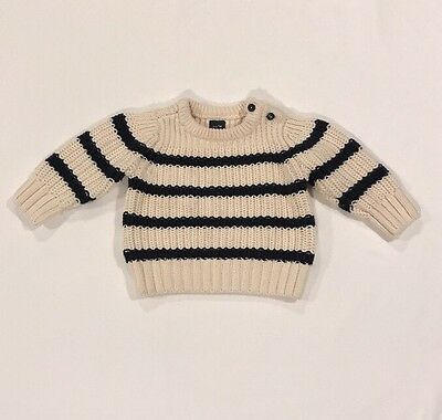 Baby Gap Boy Navy Blue Striped Sweater Size 6-12 Months