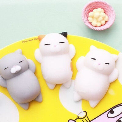 Cute Soft Cat Seal Squishy Healing Squeeze Kids Toys Stress Reliever Desk Decor