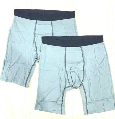 TOMMY JOHN 2-Pack NAVY/AQUA LARGE Boxer Briefs NWT!