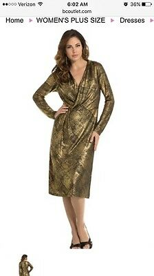 WOMENS SIZE 14W black and gold dress by Roamans - $20.00 ...