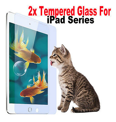 2X Tempered Glass Screen Protector For iPad 4 3 2 Air 2 Mini 3 2 1 Pro 9.7""