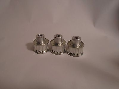 New 3 Pcs Alum. Alloy Xl Type 14 Teeth 6Mm Bore Dia Double Flanged Timing Pulley