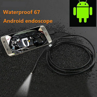 1-3.5M 7mm 6LED Android Endoscope USB Waterproof Borescope Inspection Camera WU