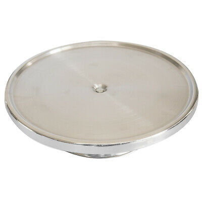 Cake Stand 330x70mm Stainless Steel Display Cupcakes Cakes Footed Plate