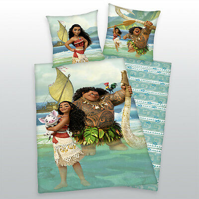 Bed Linen Walt Disney Vaiana Maui Chief Tui Sina 135 x 200 cm Gift NEW WOW