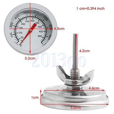 Stainless Steel Oven//Grill Thermometer 50°C-500°C Cooking BBQ Probe Bimetal TW