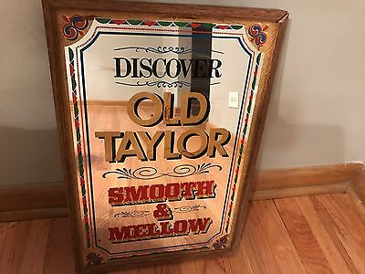 Old Taylor Bourbon Whiskey Vintage Bar Mirror