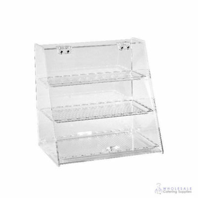 Cake & Food Angled Display Cabinet Polycarbonate 3 Shelves Zicco 340x250x340mm