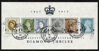 Great Britain 2012 Recent Used #2996 QE II Souvenir Sheet VF